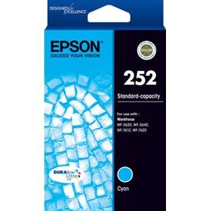 Epson 252 Genuine Cyan Ink Cartridge - 300 pages