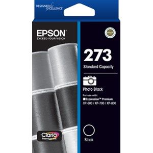 Epson 273 Genuine Photo Black Ink Cartridge - 250 pages