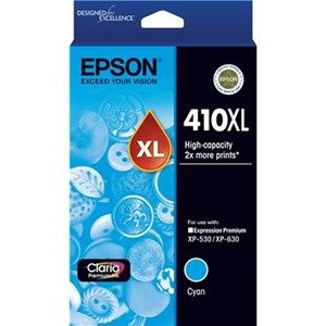 Epson 410XL Genuine High Yield Cyan Ink Cartridge