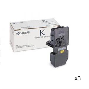 3 x Kyocera TK5234 Black Toner - 2,600 pages