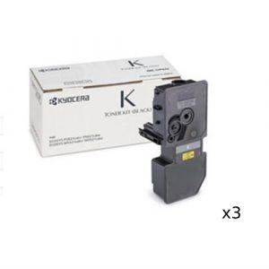 3 x Kyocera TK5244 Black Toner Cartridge - 4,000 pages