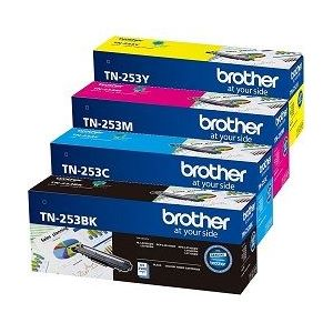 Brother TN253 Genuine Standard Yield Value Pack - 1 black, 1 cyan, 1 magenta, 1 yellow