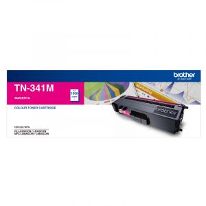 Brother TN341 Genuine Magenta Toner Cartridge - 1,500 pages