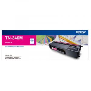 Brother TN346 Genuine Magenta Toner Cartridge - 3,500 pages
