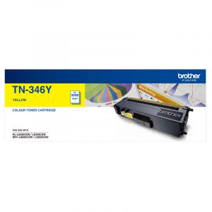 Brother TN346 Genuine Yellow Toner Cartridge - 3,500 pages